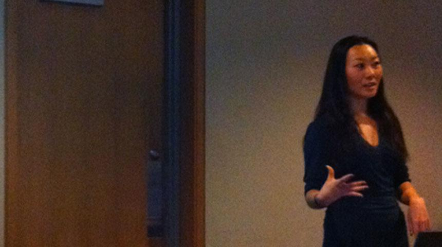 Jessica Li, giving a presentation at CRIG. Spring 2013