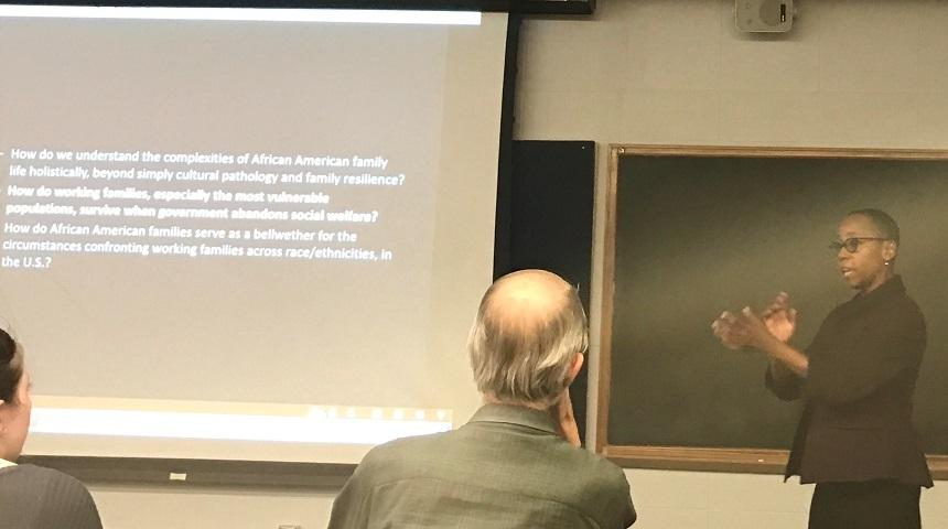 """Dr. Jennifer Hamer gave a talk on """"Around here, women never get done workin"""" at CRIG on March 3rd, 2017"""